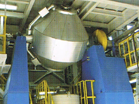 Conical dryer for PET